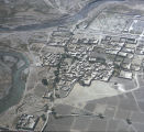 Afghanistan, aerial view of village