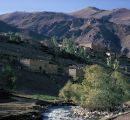 Farms in Paimori Gorge in Hindu Kush mountains