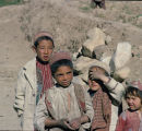 Children in a mountain village