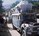 Cotton bales on Afghan bus
