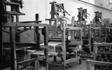 Afghanistan, wooden cotton mill machines in Pol-e Khomri