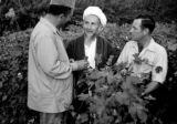 Afghanistan, Governor Ismail Khan speaking with cotton grower