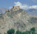 Afghanistan, ancient fort in Hindu Kush Mountains
