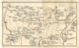 United States 1892, descriptive map of Army posts
