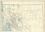 California and Nevada 1929, post route map