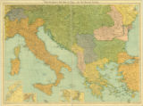 Bartholomew's war map of Italy and the Balkan states