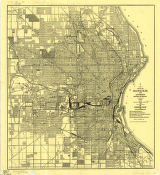 City of Milwaukee and environs / Board of Public Land Commissioners ; drawn by Maurice Kranyecz