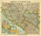 Tageskarte zur Serbischen Frage / Paul Langhans