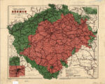 Bohemia (Czech Republic) 1911 railroad map