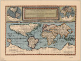 World map 1589 1966
