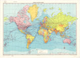 World map 1966
