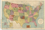 United States 1905, map showing Indian reservations