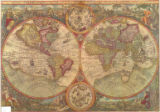 World map 1595 1988