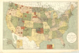 United States 1892, map showing Indian reservations