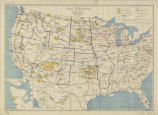United States 1941, map showing Indian reservations