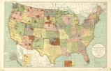United States 1898, map showing Indian reservations