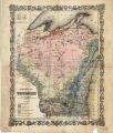Geologic map of Wisconsin 1855