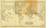 Lindbergh Chart Time zone chart of the world 1927