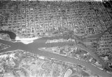 Santa Fe (Argentina), aerial view of city and Parana river