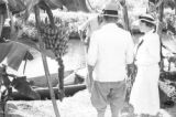 Guyana, Harriet Platt and others on edge of canal at Hope Estate
