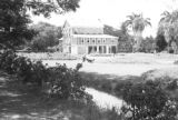 Guyana, view of owner's house at Hope Estate in Demerara-Mahaica region
