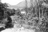 Colombia, gate at Cafetal Aguilar in Antioquia department