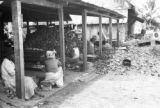 Guyana, laborers processing coconuts at Hope Estate