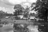 Guyana, village dwellings on east bank of Demerara River