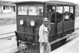 Brazil, Harriet Platt and others in tram at Água Verde station