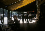 Buenos Aires (Argentina), newsstand and outdoor cafe on Avenida de Mayo