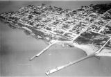 Montevideo (Uruguay), aerial view of the city along the shore of Rio de la Plata