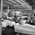 Colombia, spools of fabric at Coltejer factory in Medellín