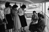 Paraguay, group of women on Paraguay River ferry