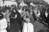 Bolivia, women burning incense in Lady of Fatima parade in La Paz
