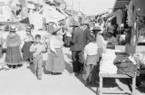 Peru, street vendors at Huancayo marketplace