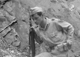 Colombia, soldier at Muzo Emerald mines