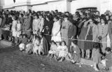 Bolivia, spectators watching Lady of Fatima of Caiconi parade in La Paz