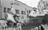 Bolivia, float and car decorated for Lady of Fatima parade in La Paz