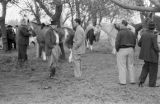 Argentina, men with horses at Pato game