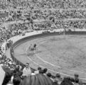 Ecuador, view of bullfight from stadium seats in Quito