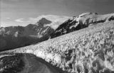 Bolivia, snow formations along road on Chacaltaya Mountain