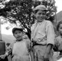 Peru, group of boys in Pisac