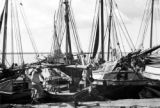 Brazil, boats docked at crowded Belém waterfront