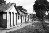 Brazil, row of dwellings on edge of Belém