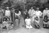 Peru, villagers gathered for a group photograph