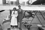 Brazil, Robert and Harriet Platt on seaplane in Parintins