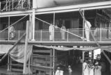 Colombia, people on deck of steamship