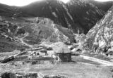Peru, view of buildings in mountain valley