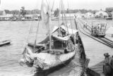 Venezuela, boats docked at pier in La Ceiba
