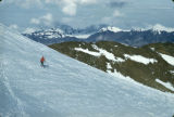 Bolivia, Club Andino Boliviano member skiing on Chacaltaya Mountain